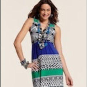 Chico's KATRINA ABSTRACT TRIBAL MAXI DRESS 2/12$89